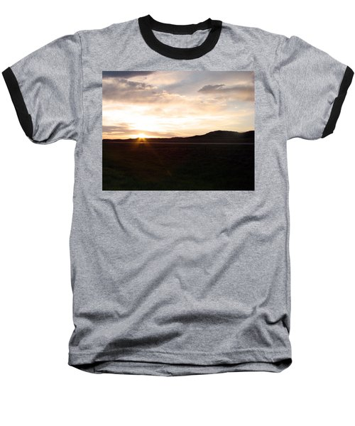Baseball T-Shirt featuring the photograph Sunset Across I 90 by Cathy Anderson