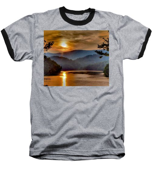 Sunset And Haze Baseball T-Shirt by Tom Culver
