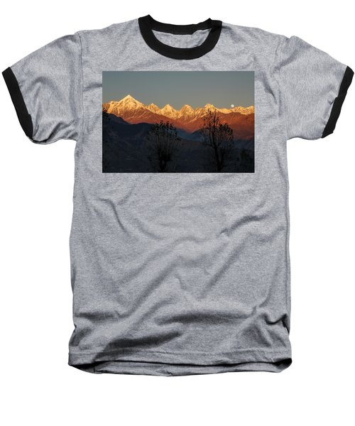 Sunset And Moonrise. The Rendezvous. Baseball T-Shirt