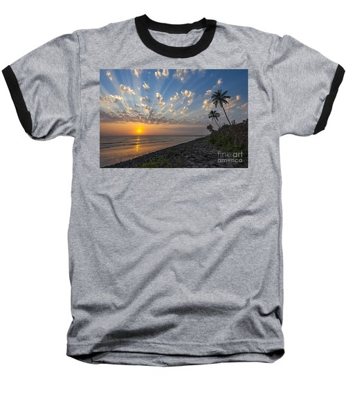 Sunset At Alibag, Alibag, 2007 Baseball T-Shirt