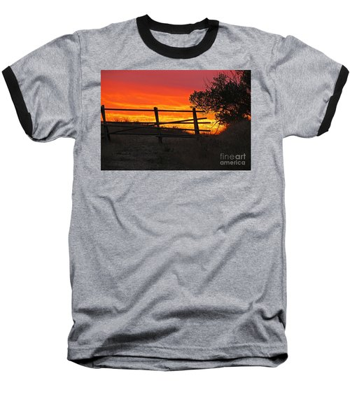 Baseball T-Shirt featuring the photograph Sunset At Bear Butte by Mary Carol Story