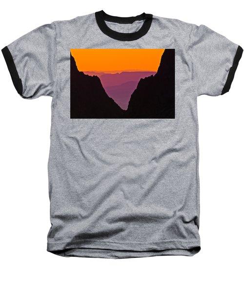 Sunset At Big Bend Baseball T-Shirt