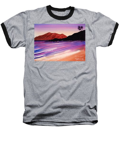 Sunset At Black Rock Maui Baseball T-Shirt