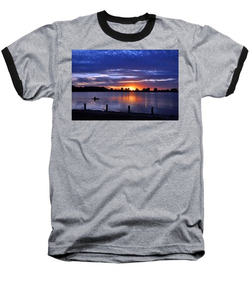 Sunset At Creve Coeur Park Baseball T-Shirt