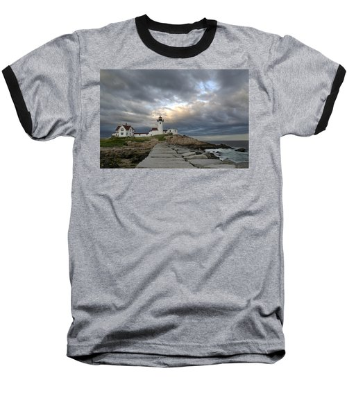 Sunset At Eastern Point Lighthouse Baseball T-Shirt