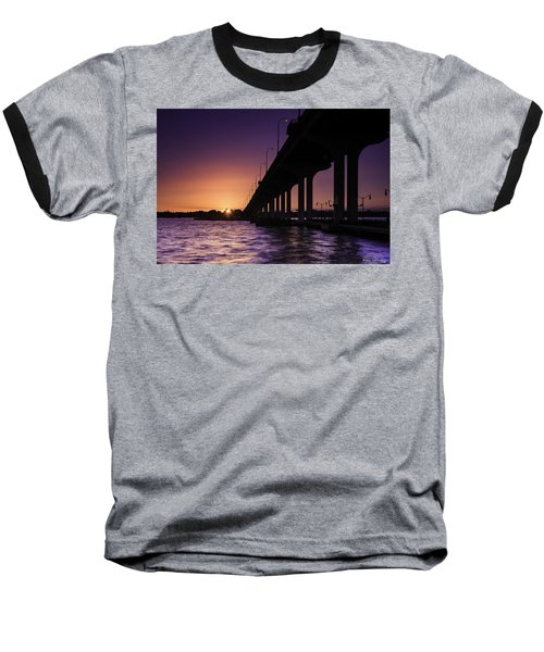 Sunset At Jensen Beach Baseball T-Shirt