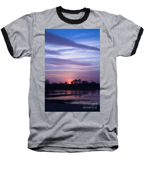 Sunset At Malibu Beach Lagoon Estuary Fine Art Photograph Print Baseball T-Shirt