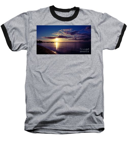 Sunset At Monkey Mia Baseball T-Shirt by Yew Kwang