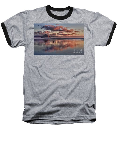 Sunset At Morro Strand Baseball T-Shirt