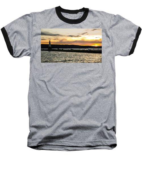 Sunset At Myers Baseball T-Shirt