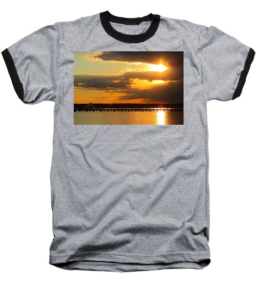 Sunset At National Harbor Baseball T-Shirt