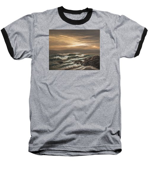 Sunset At Pacific Grove Baseball T-Shirt