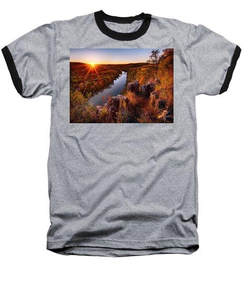 Sunset At Paint-rock Bluff Baseball T-Shirt