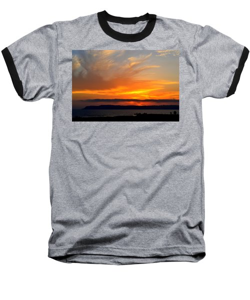 Sunset At Point Loma From Coronado California Baseball T-Shirt