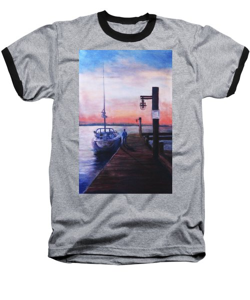 Sunset At Rocky Point Baseball T-Shirt