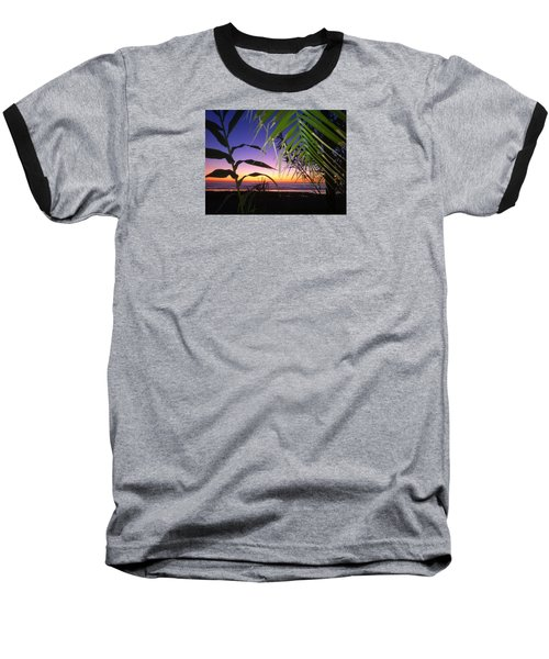 Sunset At Sano Onofre Baseball T-Shirt