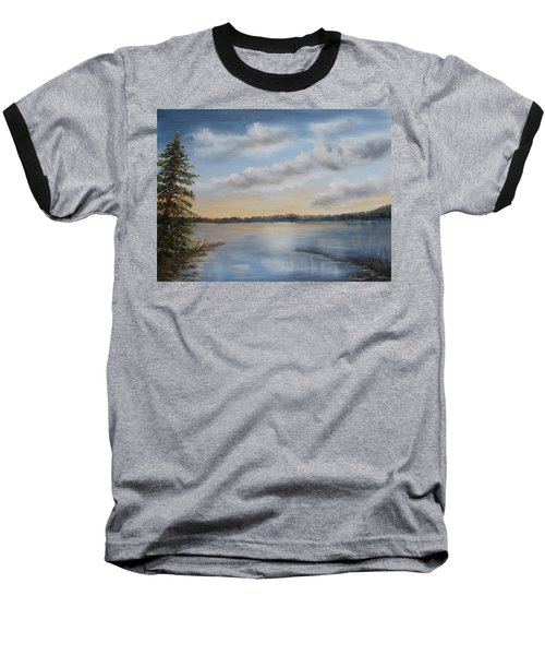 Sunset At Sparta Lake New Jersey Baseball T-Shirt