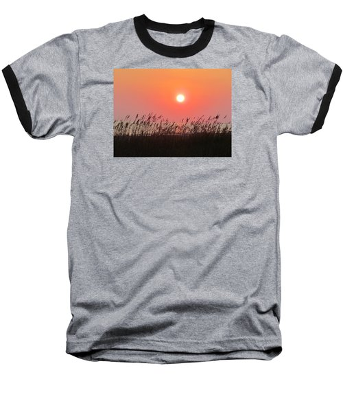 Baseball T-Shirt featuring the photograph Sunset At The Beach by Cynthia Guinn