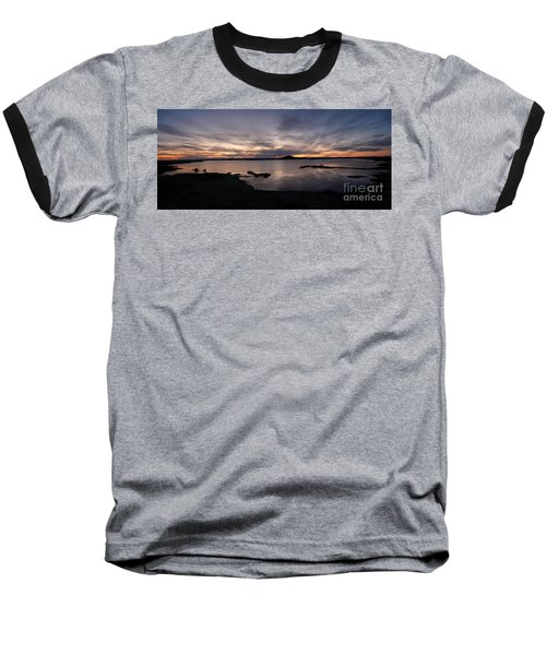 Sunset Over Lake Myvatn In Iceland Baseball T-Shirt