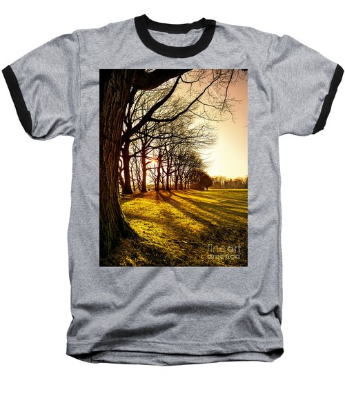 Sunset At The Park Baseball T-Shirt