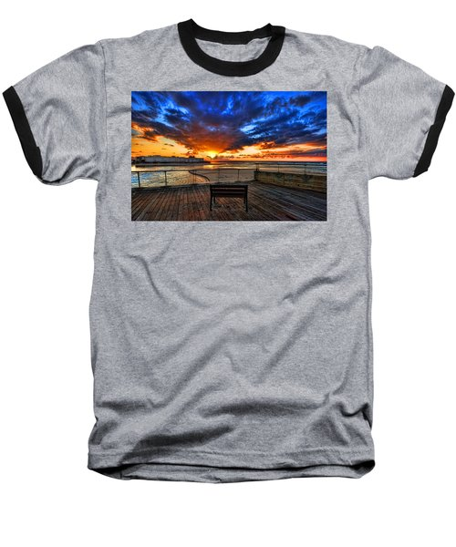 sunset at the port of Tel Aviv Baseball T-Shirt