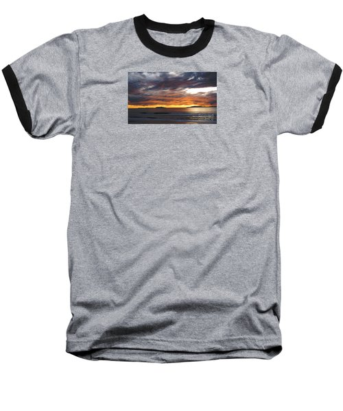 Sunset At The Shores Baseball T-Shirt by Janice Westerberg