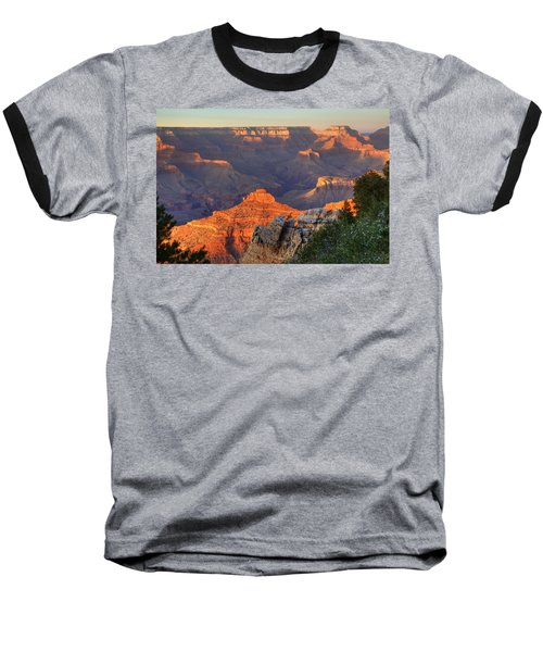 Baseball T-Shirt featuring the photograph Sunset At Yaki Point by Alan Vance Ley