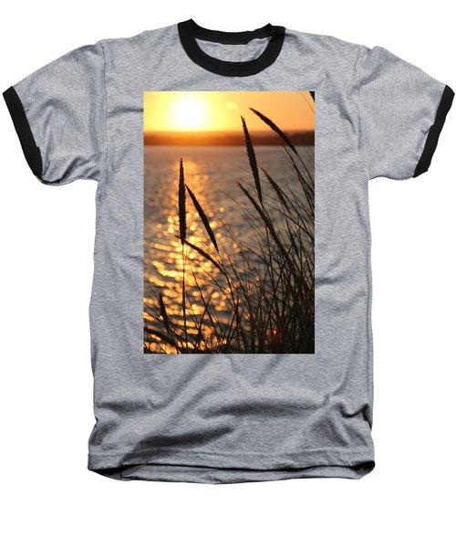Baseball T-Shirt featuring the photograph Sunset Beach by Athena Mckinzie