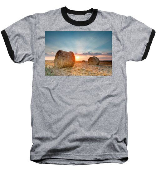 Sunset Bales Baseball T-Shirt