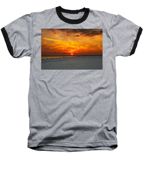 Baseball T-Shirt featuring the photograph Sunset Beach New York by Chris Lord