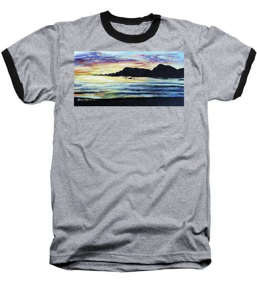 Baseball T-Shirt featuring the painting Sunset Beach by Shana Rowe Jackson