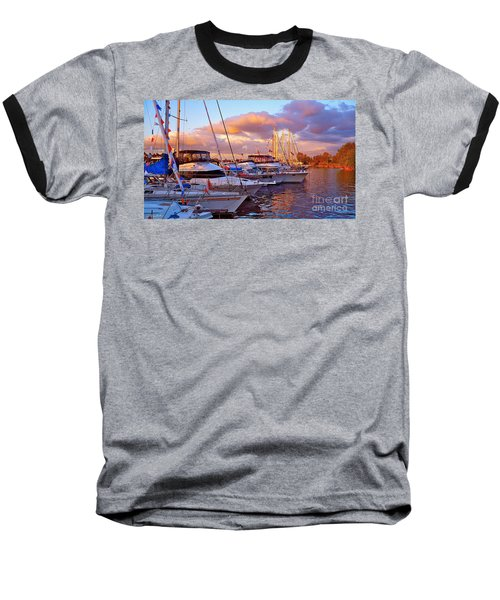 Sunset Before The Show Baseball T-Shirt by Gem S Visionary