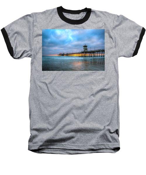 Sunset Beneath The Pier Baseball T-Shirt