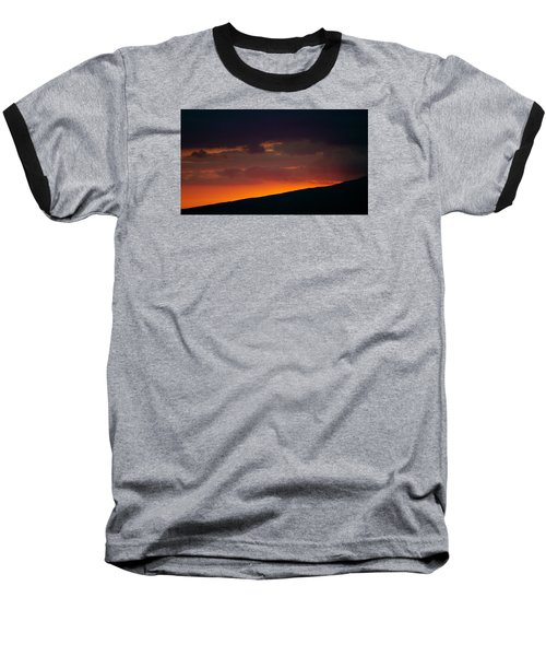 Baseball T-Shirt featuring the photograph Sunset Beyond The Waianae Mountain Range by Lehua Pekelo-Stearns