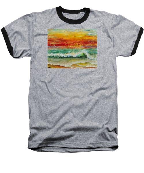 Sunset Breeze Baseball T-Shirt by Teresa Wegrzyn