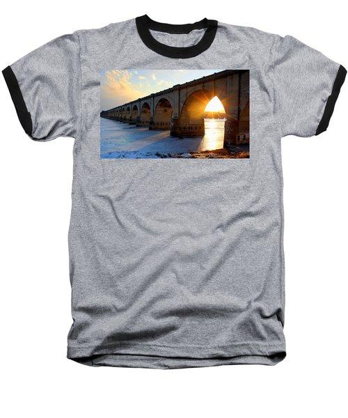 Sunset Bridge Baseball T-Shirt