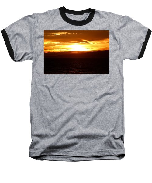 Sunset By The Fjord Baseball T-Shirt