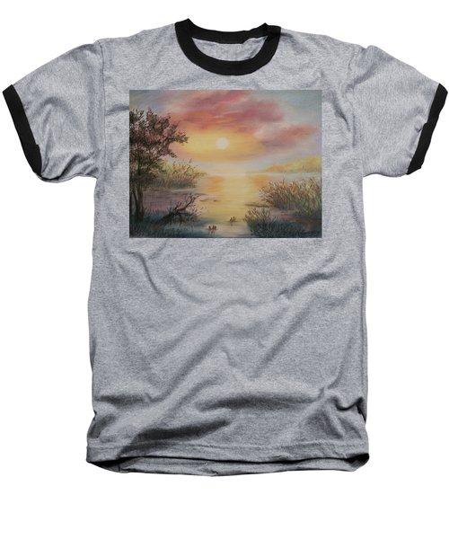 Sunset By The Lake Baseball T-Shirt