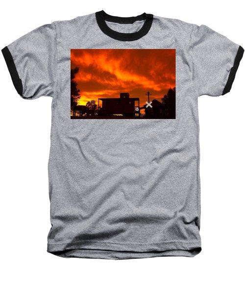 Sunset Caboose Baseball T-Shirt