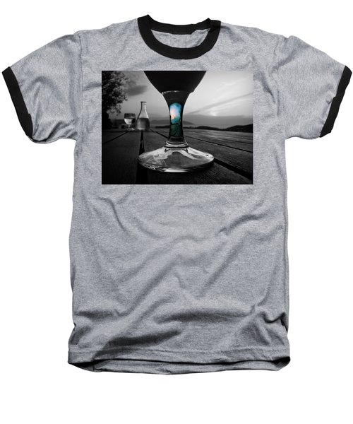 Baseball T-Shirt featuring the photograph Sunset Cafe by Micki Findlay