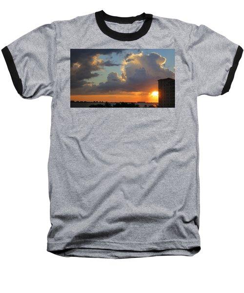 Sunset Shower Sarasota Baseball T-Shirt