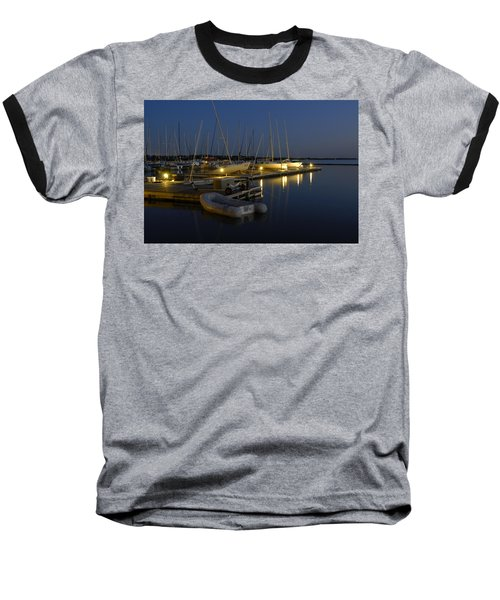 Sunset Dock Baseball T-Shirt