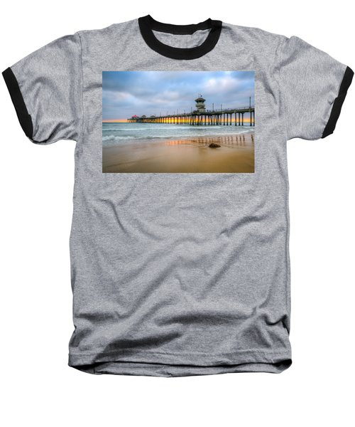 Sunset Drifting Under The Pier Baseball T-Shirt