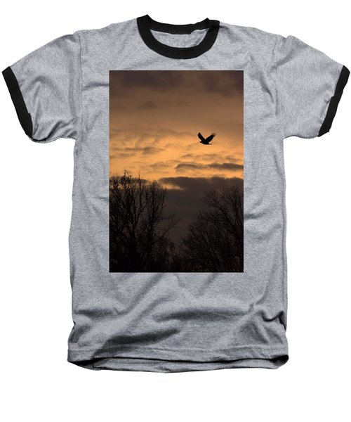 Sunset Eagle Baseball T-Shirt