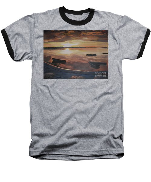 Sunset Evening Tide Baseball T-Shirt