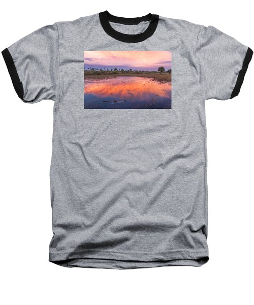 Everglades Afterglow Baseball T-Shirt by Doug McPherson