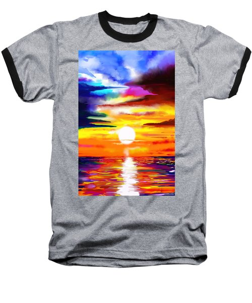 Sunset Explosion Baseball T-Shirt