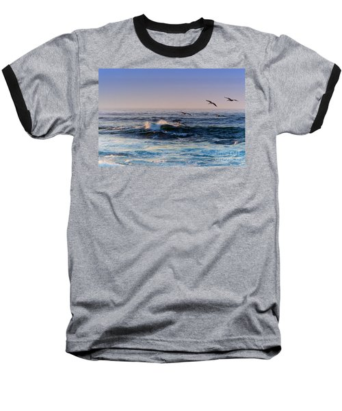 Baseball T-Shirt featuring the photograph Sunset Fly by Kathy Bassett