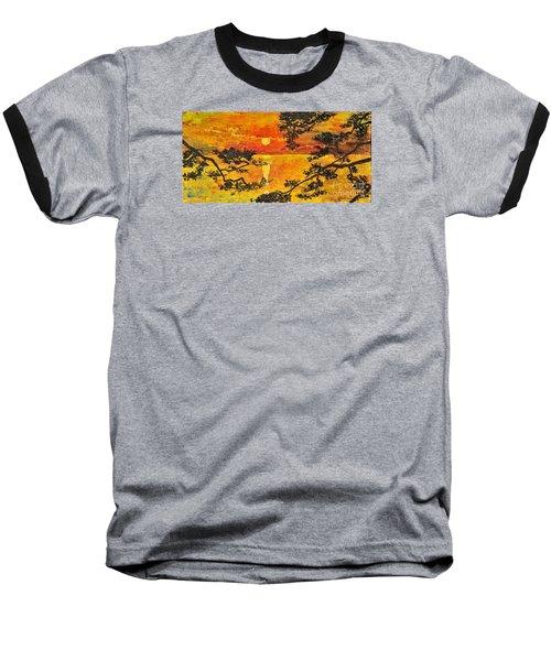 Sunset For My Parents Baseball T-Shirt by Teresa Wegrzyn