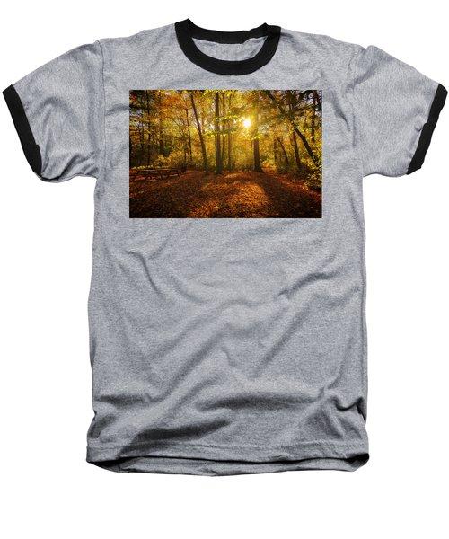Sunset Forest Baseball T-Shirt